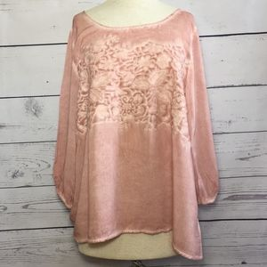 Andrew Blue Blush Boutique Top
